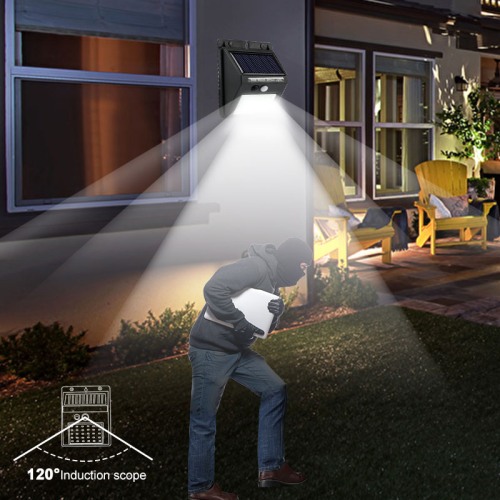 LED Waterproof PIR Motion Sensor Security Solar Lamp Outdoor Emergency Wall Light