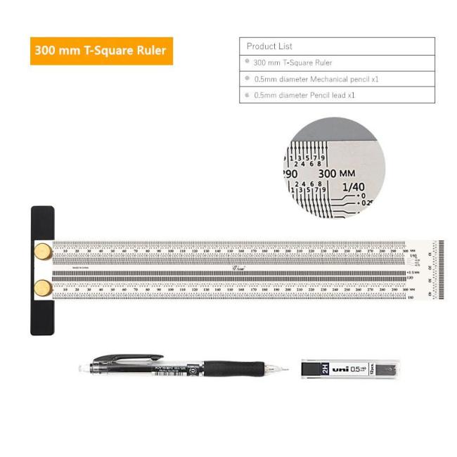 Multi-functional Line Drawing Stainless Steel Hole Ruler