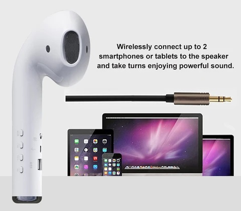 Giant Bluetooth headset speaker wireless mini column 3D 10W stereo surround【FREE SHIPPING】