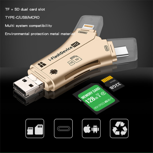 4-In-1 Versatile High Speed SD Card Reader - Fit For All Your Devices