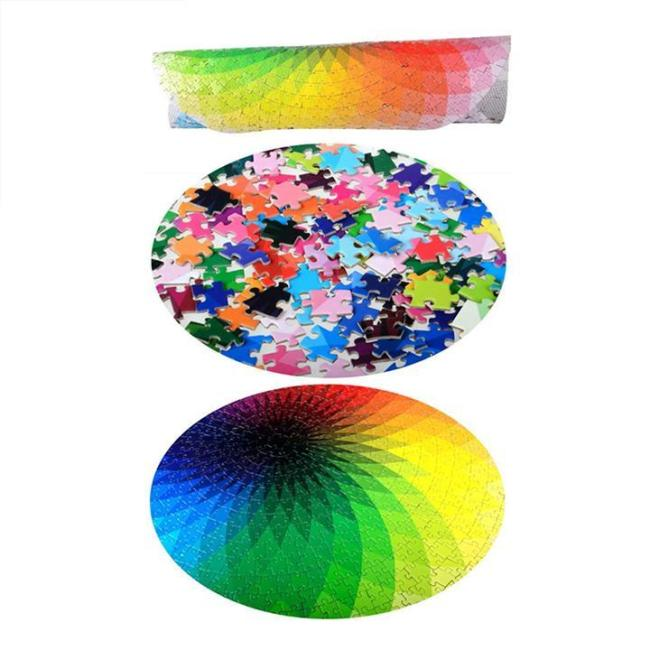 1000 Pcs Rainbow Round Puzzle -Buy 2 Save 10%+Free Shipping