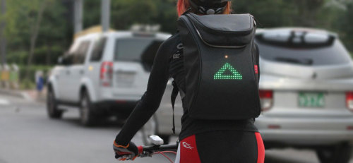 Backpack Bike Turn Signals And Messages