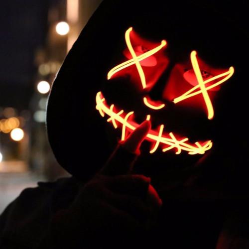 LED Halloween Growing Cyberpunk Mask