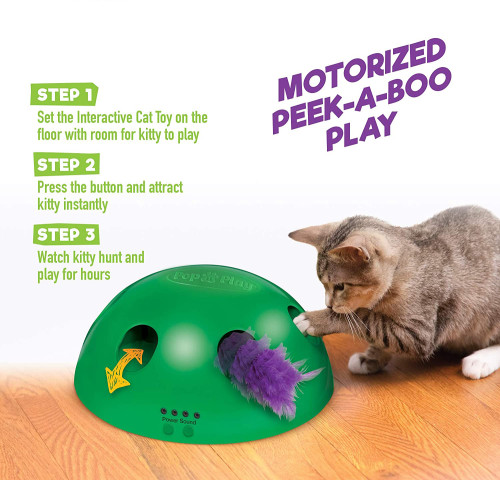 Interactive Motion Cat Toy Electronic Smart Random Moving Feather Mouse Teaser