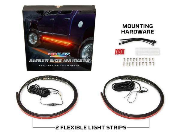2 pcs Amber Truck Running Board LED Light Kit with Courtesy Lights【Free shipping】