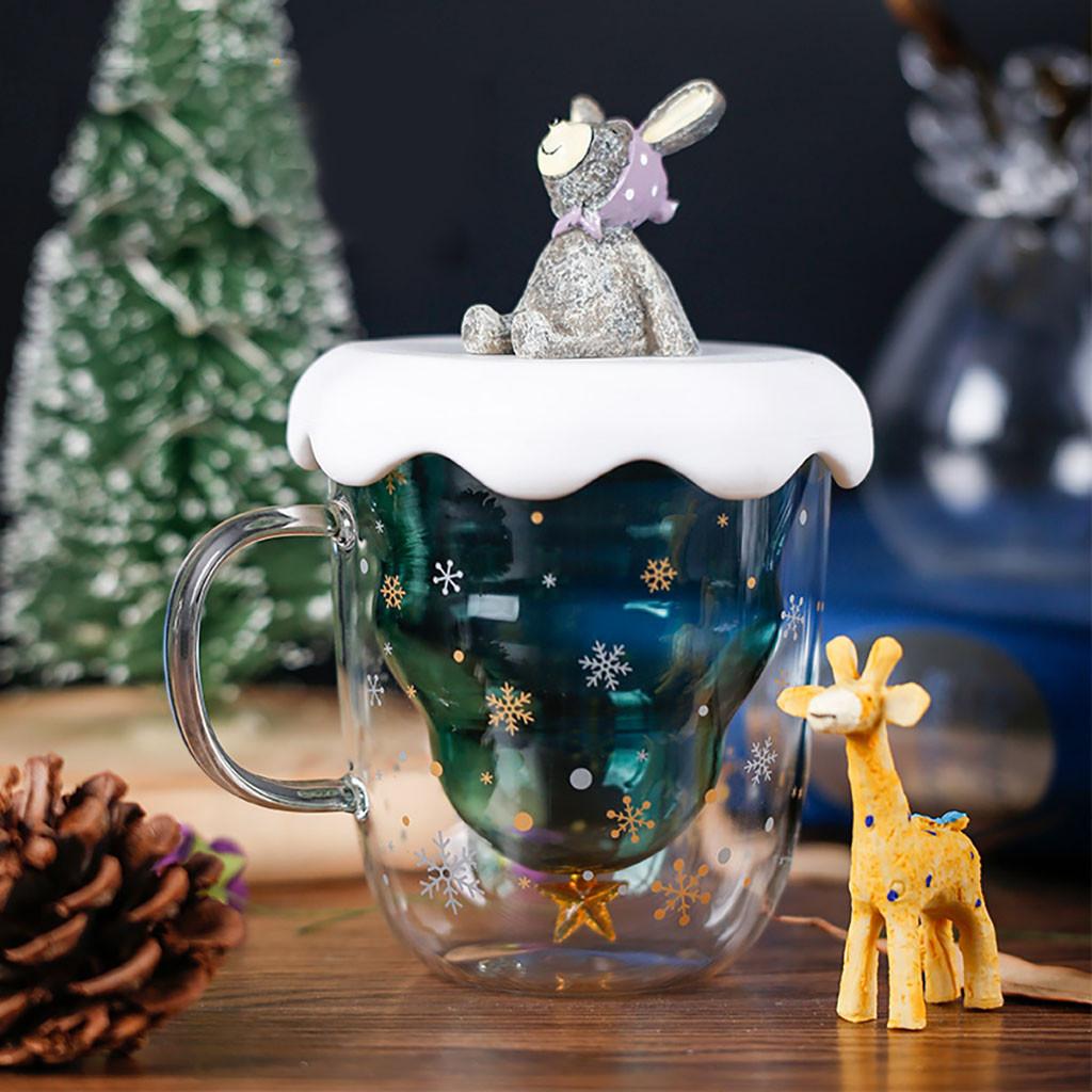 US$ 19.99 - Christmas Tree Insulated Glass Coffee Mug ...