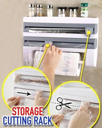 US$ 29.89 - Multifunction Film Storage Rack Cutter for Kitchen -  m.outogear.com