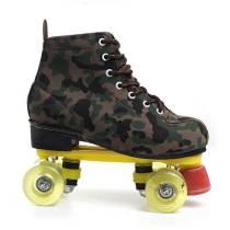 Outdoor Camouflage Adult Best Starter Flash Leather Roller Skates