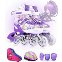 Kids Adjustable Inline Skates Cool Running Skates Children Full Set