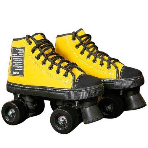 Multicolor Adult Leather Pro 4 Wheel Roller Skates