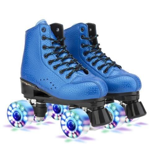 Leather Cool Flash Breathable Adult Roller Skates