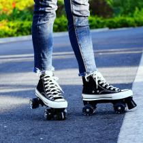 All Star Style Roller Skates, For Men And Women Canvas Kids Quad Skates For Beginners