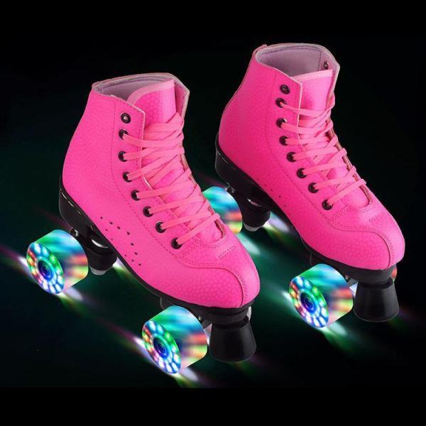 Adult Roller Skates For Women & Men double-row skates luminous