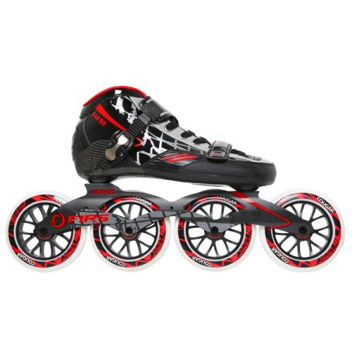 Speed Inline Skates Adult Big Wheel Carbon Fiber Single Row Roller Skates