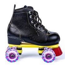 Embossed Leather Flash Mens & Womens Roller Skates Kids