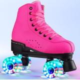 Adult Roller Skates For Women & Men double-row skates luminous