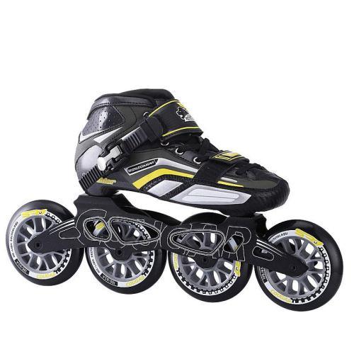 Black And Orange Professional Inline Skates Speed Outdoor Roller Blades Kids