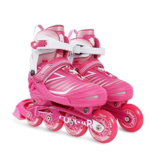 Children's Beginner Rollerblades Adjustable Inline Skate Full Set