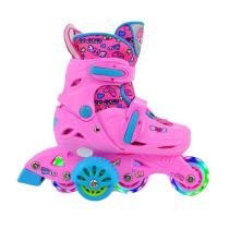 Kids Inline Skates Children's Adjustable Inline Skates Shoelace Protective Gear Set