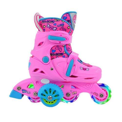 Kids Inline Skates Children's Adjustable Inline Skates Shoelace Protective Gear Set