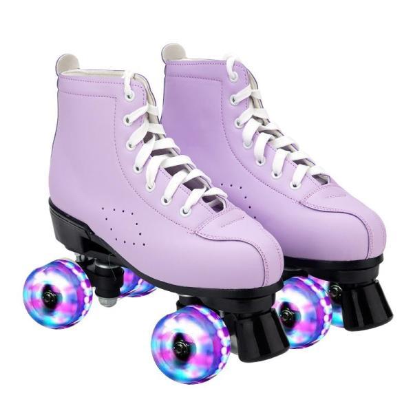 The Best Skates for Outdoors Purple Quad Roller Skates For Women's