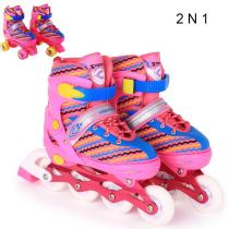 2 N 1 Light Up Candi Roller Blades Roller Skates For Children