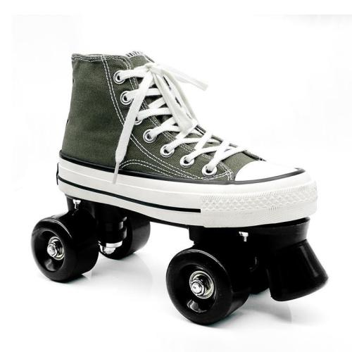 Army Green Street Freestyle Canvas Roller Skates