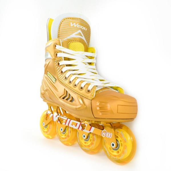 W-100 Inline Hockey Roller Skates For Adults, Youth & Kids, Gold
