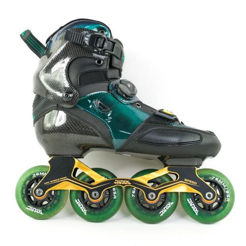 Green Carbon Fiber Roller Blades For Adult