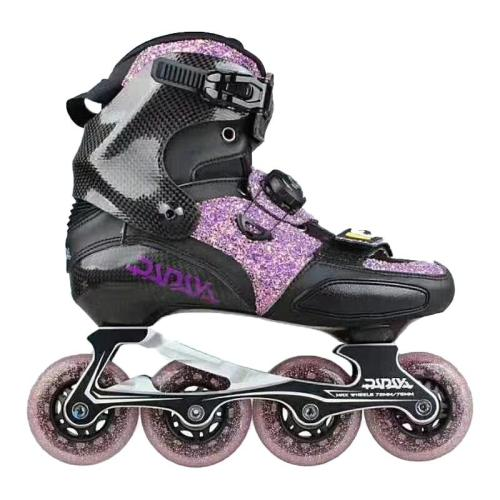 Purple Carbon Fiber Roller Blades For Adult