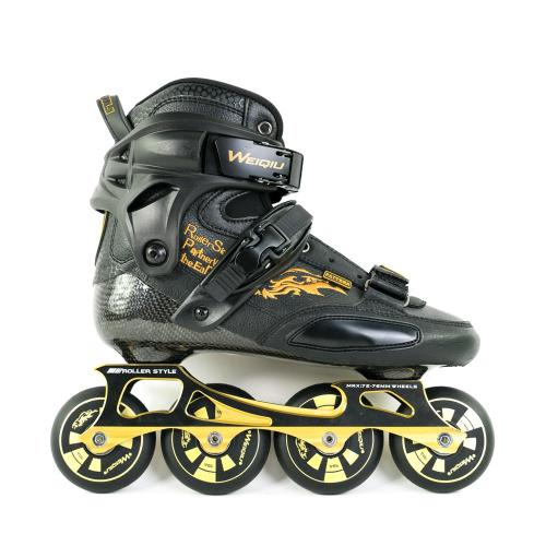 Outdoor Carbon Fiber Black Gold Inline Skates