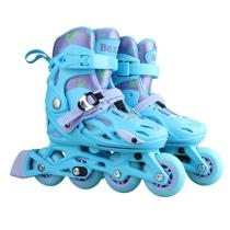 Professional Blue Adjustable Inline Skates For Boys And Girls