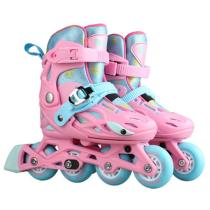 Professional Pink Adjustable Inline Skates For Boys And Girls