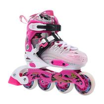Children's Full Set Of Pink Inline Skates For Beginners
