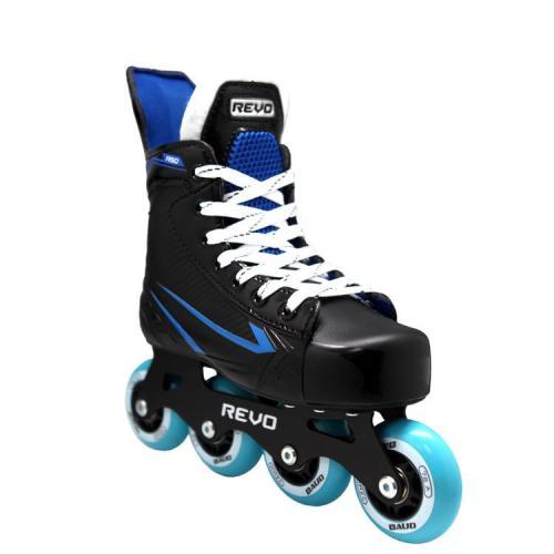 Black Hockey Inline Roller Skates For Adult Teenager