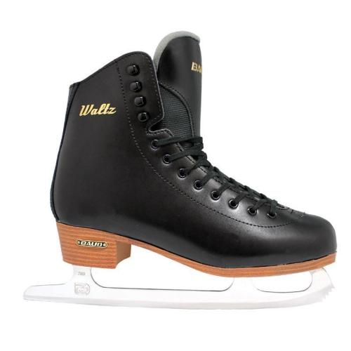 Balck Genuine Leather Figure Skates For Kid and Adult