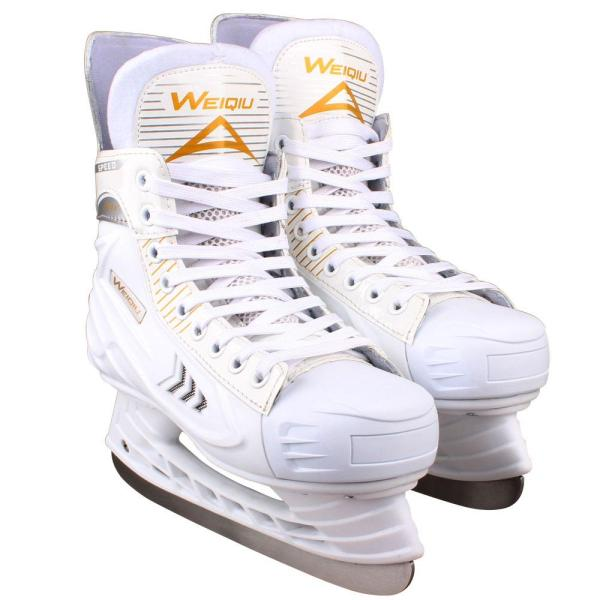 W-100 Ice Hockey Roller Skates For Adults, Youth & Kids, White