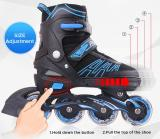 Papaison Adjustable Inline Skates Set For Kids, Red