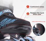 Papaison Adjustable Inline Skates Set For Kids, Red