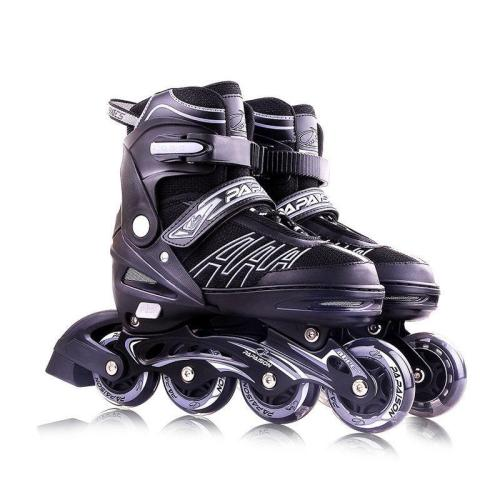 Papaison Adjustable Inline Skates Set For Kids, Grey