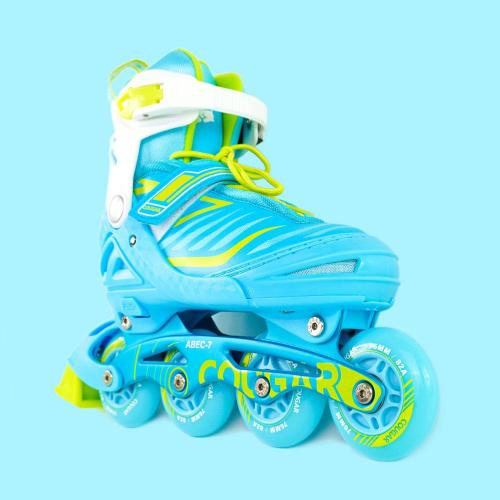 Water Color Inline Skates Whole Sets For Kids, Blue