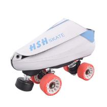 White Adult Vanilla Quad Skates Roller Skates