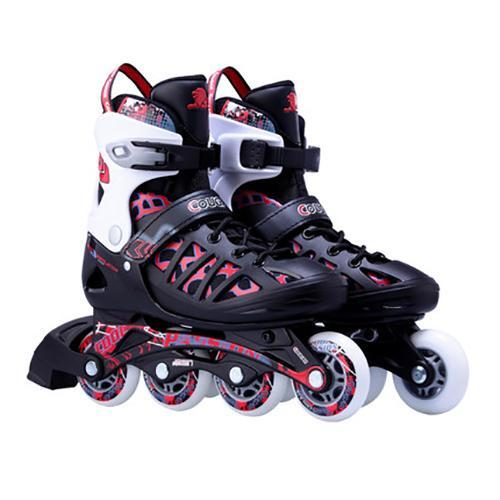 Adult Red Adjustable Inline Skates Junior Roller Blades for Men and Women