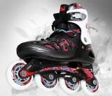 Adult Red Adjustable Inline Skates Junior Roller Blades for Men and Women