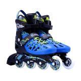 Adult Blue Adjustable Inline Skates Junior Roller Blades for Men and Women