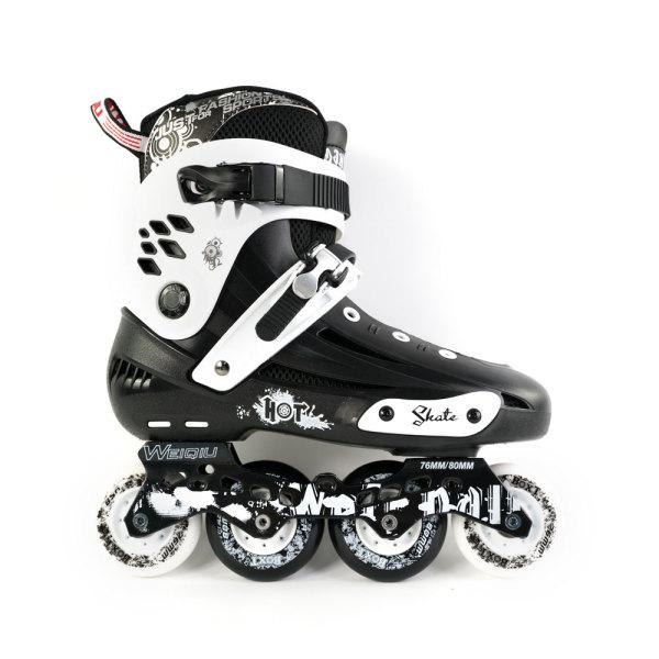 BOXT Beginner Street Inline Skates, Black&White