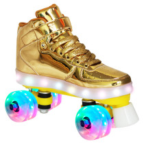 Flash Roller Skates, Gold