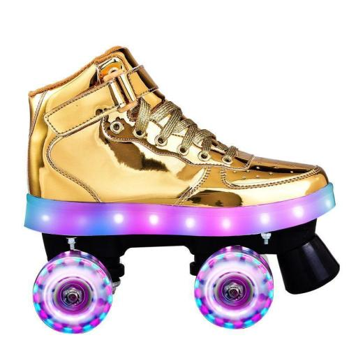 Air Force Adult & Kids Flashing Outdoor Quad Roller Skates