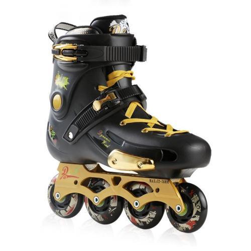 Adult Black Inline Skates Beginner RollerBlades  for Men and Women