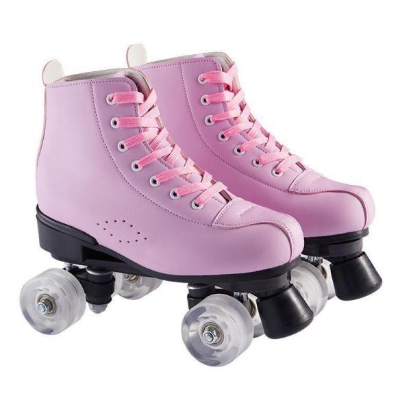 Pink Women's Light Up Wheels For Roller Skates